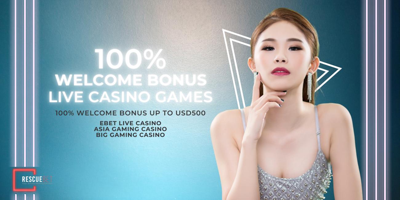 Live Casino 100% Welcome Bonus