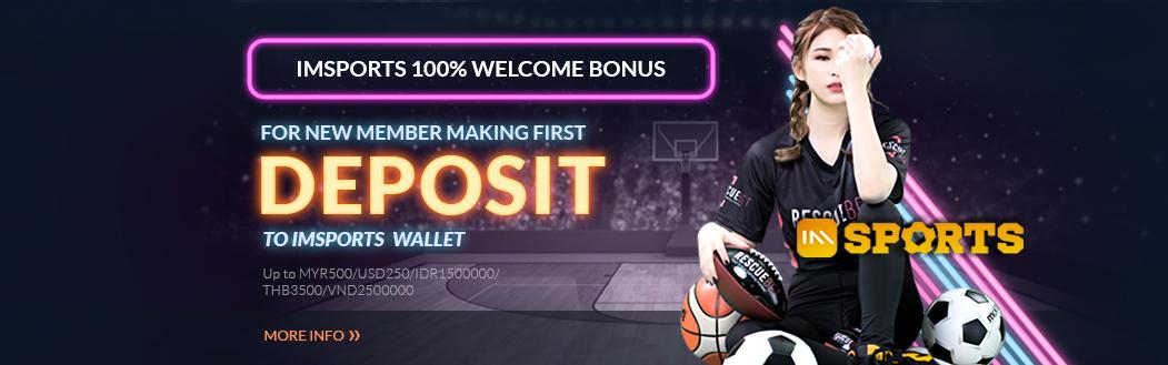 IMsports 100% Welcome Bonus