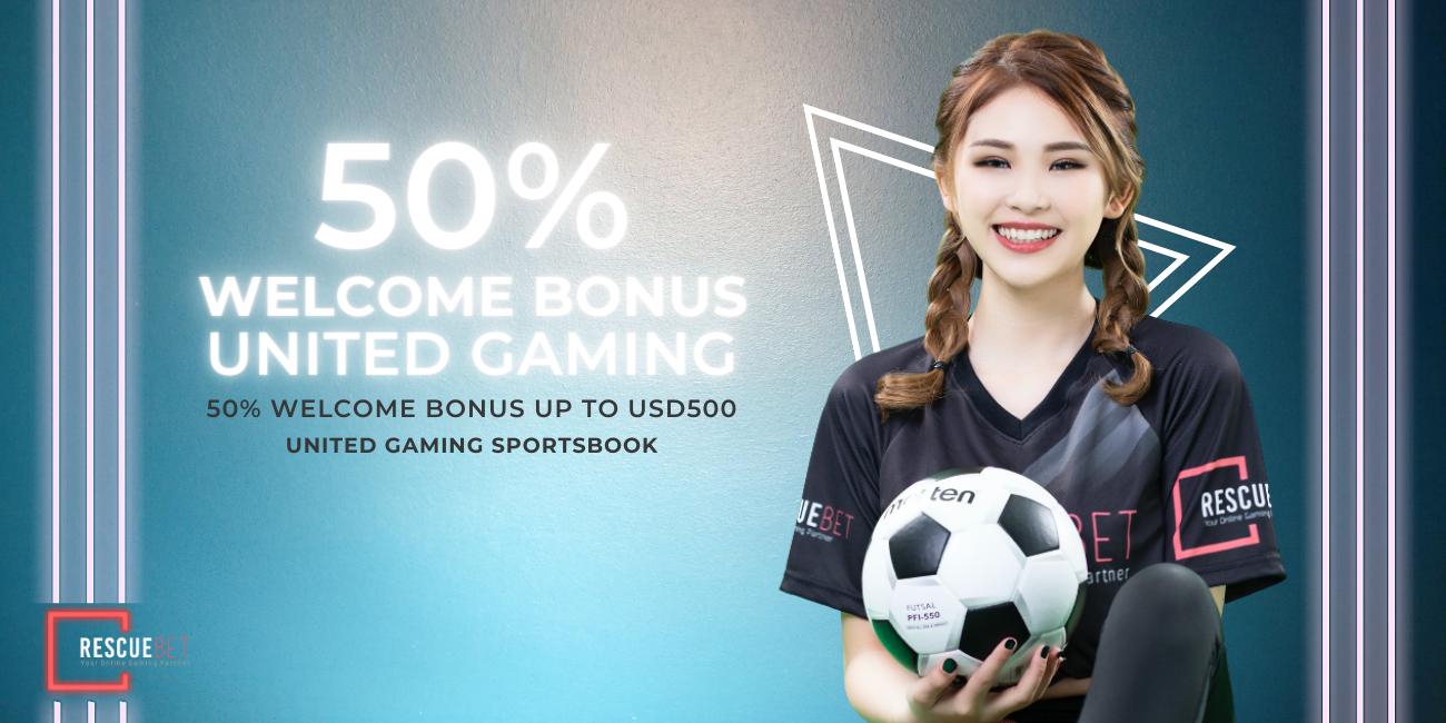 United Gaming Sportsbook 50% welcome bonus