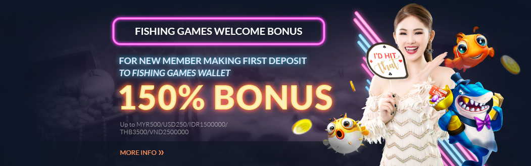 Fishing Games 150% Welcome Bonus