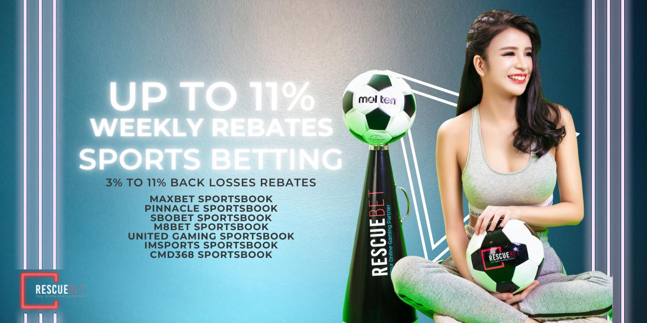 Rescuebet Sports Betting 11% Losses Rebate