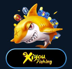 Shark With XiYou Fishing Game Logo