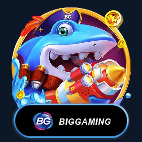 Shark and clown fish with Big Gaming logo