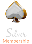 Silver color spades with text silver membership